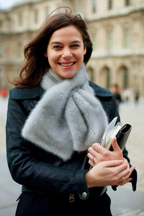 On the Street……Fur Collar, Milan & Paris « The Sartorialist
