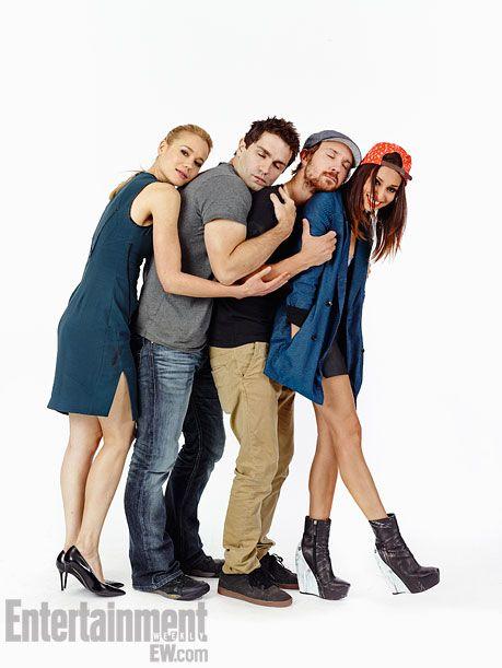 Kristen Hager, Sam Witwer, Sam Huntington, Meaghan Rath (Being Human)