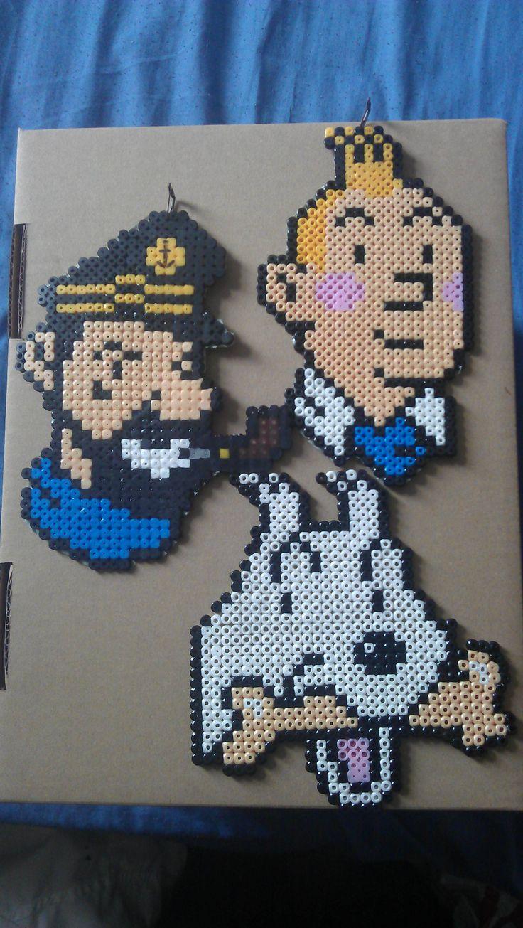 Tintin perler bead sprites