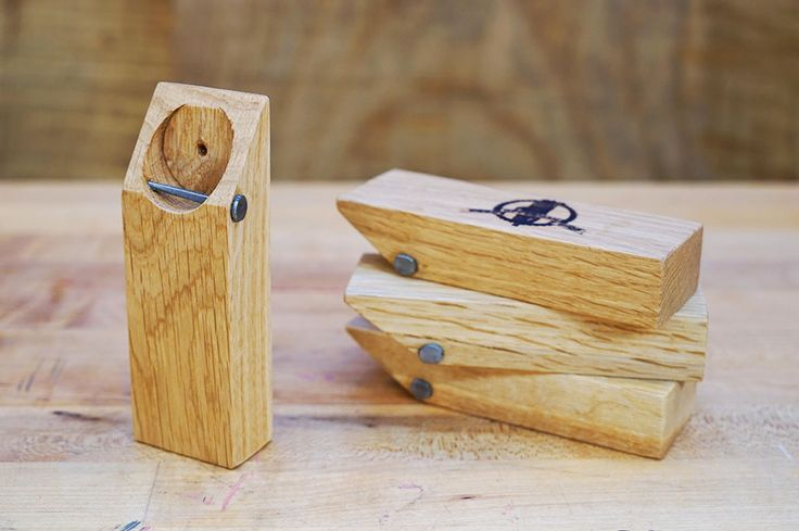 Reclaimed oak beer opener // by Offerman Woodshop (Ron Swanson's real life wood shop)