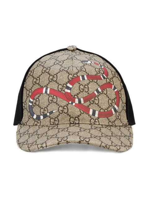 5e2ccb8a281 GUCCI Rap Baseball Cap With Snake And Gg Logo Detailing.  gucci  detailing