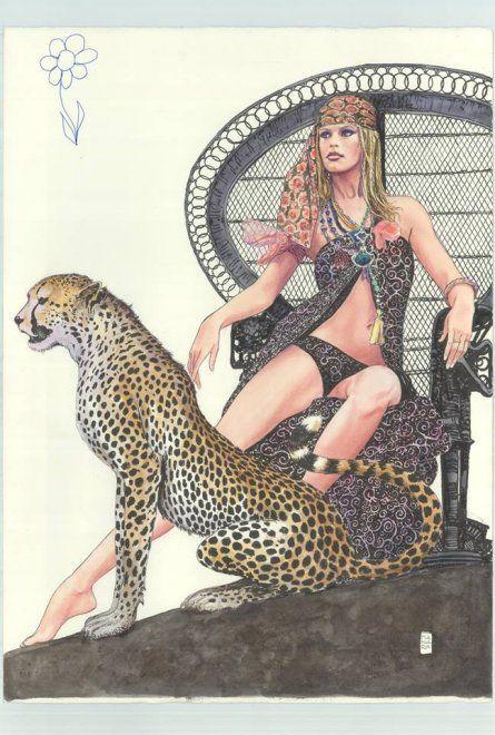 Il 12 giugno verranno messi all'asta i disegni di Milo Manara su Brigitte Bardot. Sono 25 acquerelli approvati dalla stessa attrice che li ha firmati con