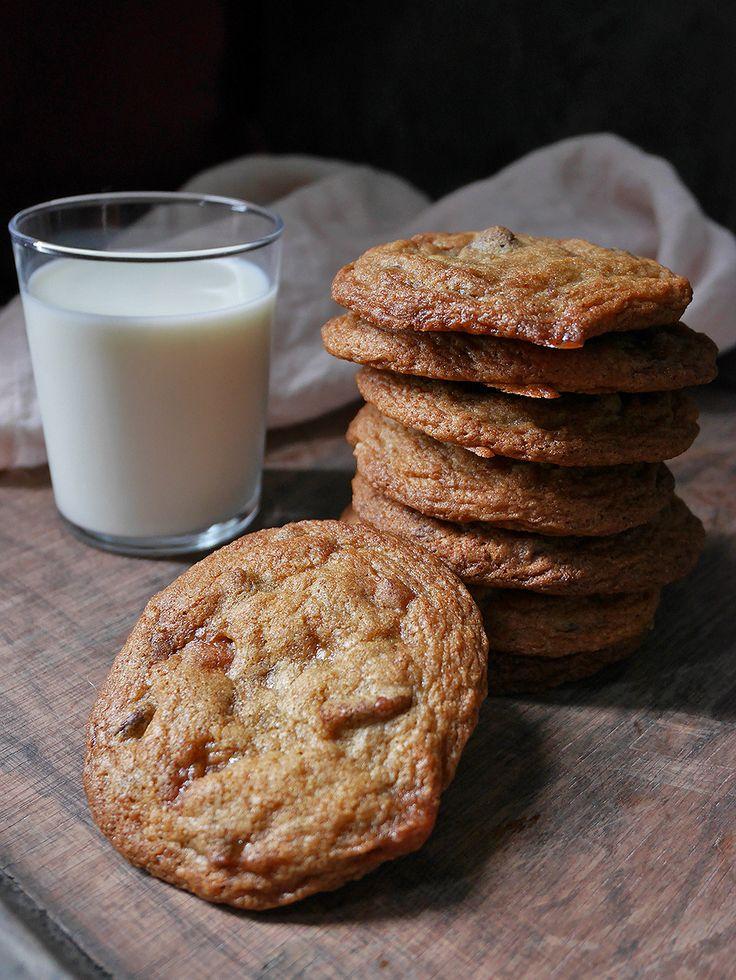 Toffee pecan chocolate chip cookies.
