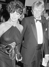 Joan Collins and husband Peter Holm, 1984