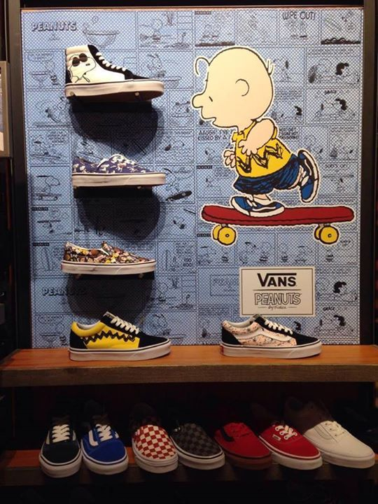 CollectPeanuts.com on Facebook - Inspired by Snoopy! The Vans X Peanuts Collection in-store displays are wonderful. Thanks to Stella for sharing!  Can't get to a store? Shop online and support CollectPeanuts.com: http://cpnuts.com/vans