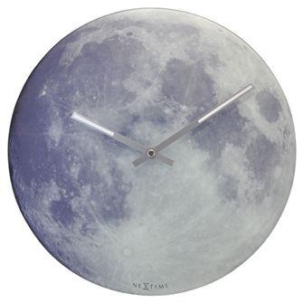 """NEXTIME """"BLUE MOON"""" WALL CLOCK 