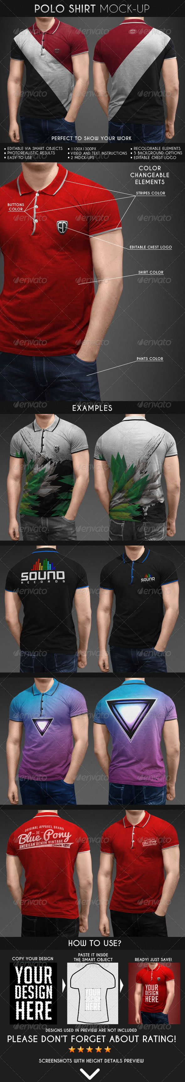 Polo Shirt Mock-Up  #shirt #t-shirt #t-shirts • Available here → http://graphicriver.net/item/polo-shirt-mockup/6913975?s_rank=1734&ref=pxcr