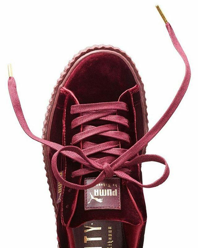 puma creepers rouge velvet