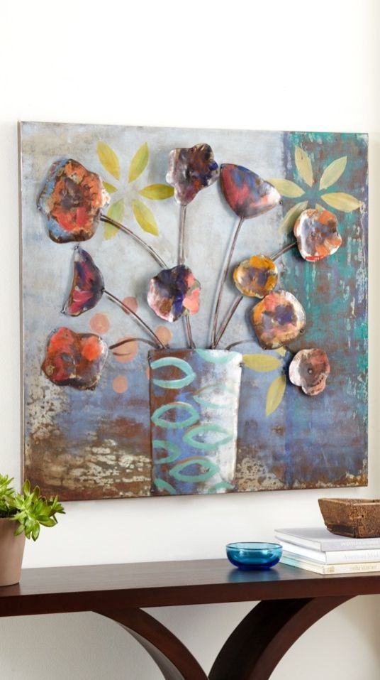 Add some depth to your wall art with our dimensional metal still life