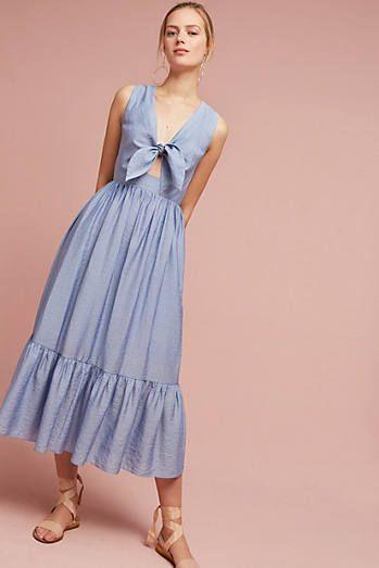 Kayla Tie-Front Midi Dress