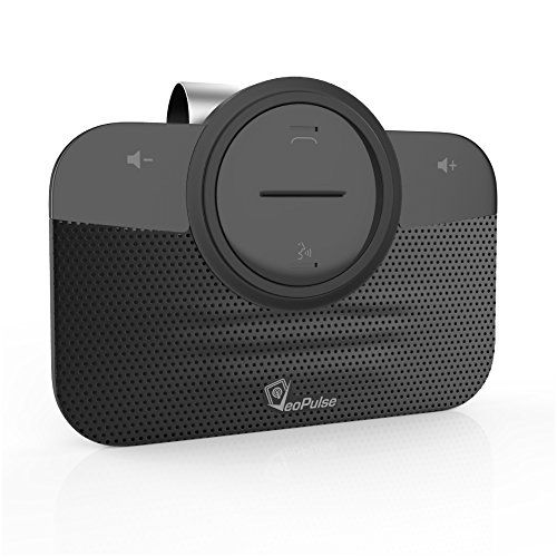 #Car Speakerphone VeoPulse B-PRO 2B with Bluetooth Automatic Cellphone Connection - Safe Hands-free Talking and Driving Wireless Technology - Compatible with All Cars and Bluetooth Phones Sleek Black