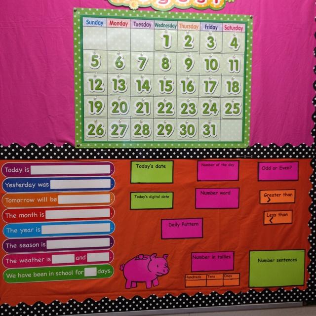Kindergarten Calendar Flip Chart : Ideas about kindergarten calendar math on pinterest