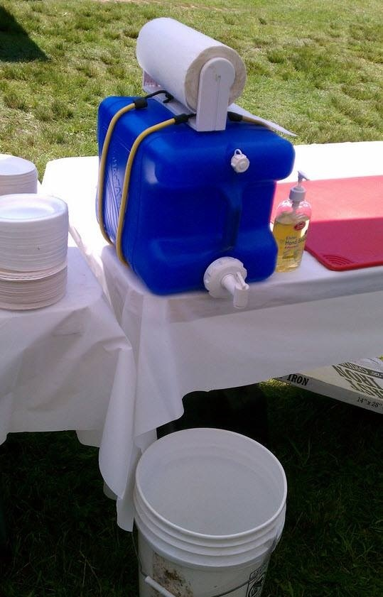 Hand washing station for when camping