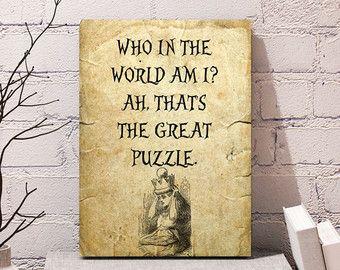 Alice in Wonderland printable , Alice in Wonderland Quote , Lewis Carroll , Printable art , Printable Quote, Reader gift, Instant download