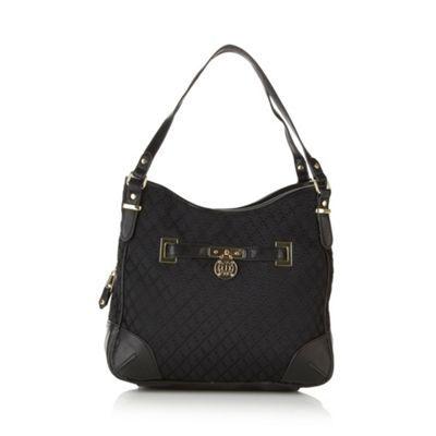 J by Jasper Conran Designer black jacquard shoulder bag- at Debenhams.com