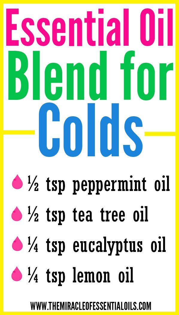 Runny nose, itchy eyes, headache, sore throat? Looks like you've got a cold! Try this DIY Essential Oil Blend for Colds as a natural remedy!
