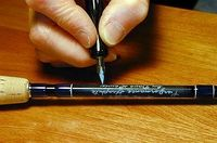Writing on rods - How to get nice hand writing on your home built fly rods - Global FlyFisher