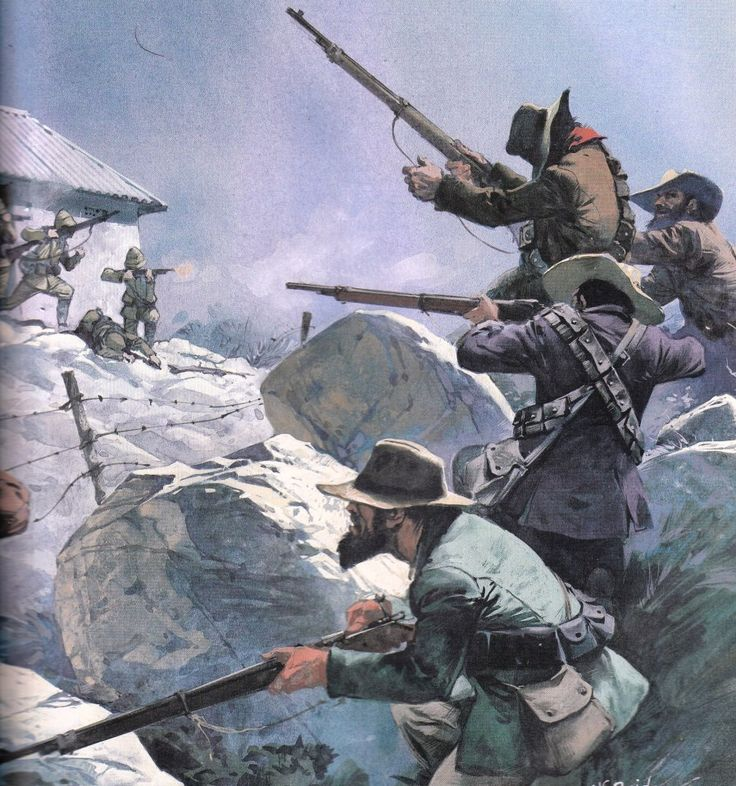 Charge of the Boers against British troops, Boer War