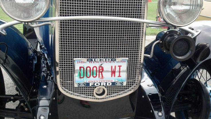 This 1930 Model A Ford with DOOR WI was spotted this weekend at a local car & 19 best Door County License Plates images on Pinterest | Licence ...