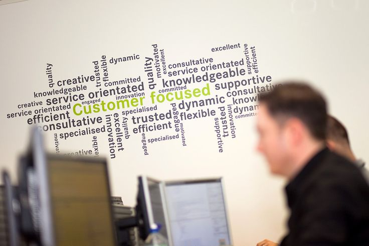 Word Cluster wall sticker word cloud wordle in Office by Vinyl Impression