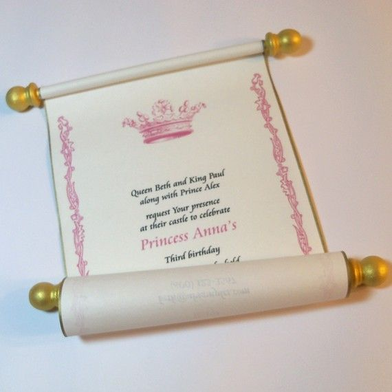 Awesome Princess Party invites