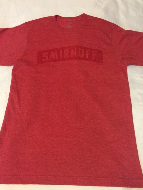 Men's Smirnoff Red Marble Tangerine Blouse T Shirt Size Medium | eBay