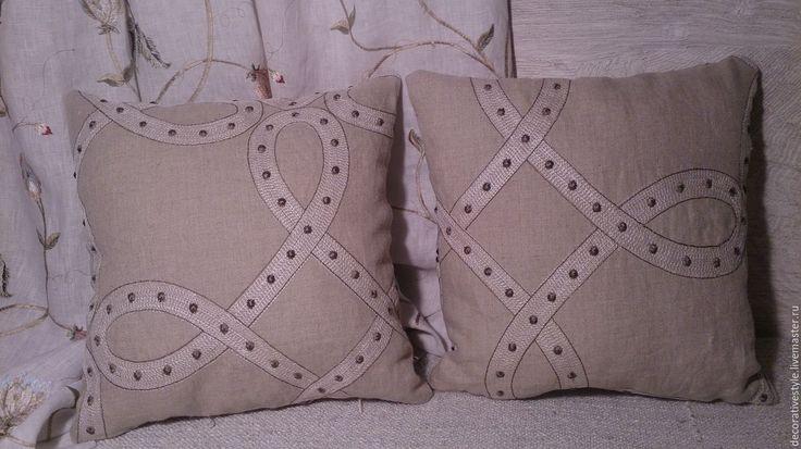 Купить Подушка декоративная. Подушка льняная. - подушки декоративные, Подушки, подушки льняные, подушки с вышивкой