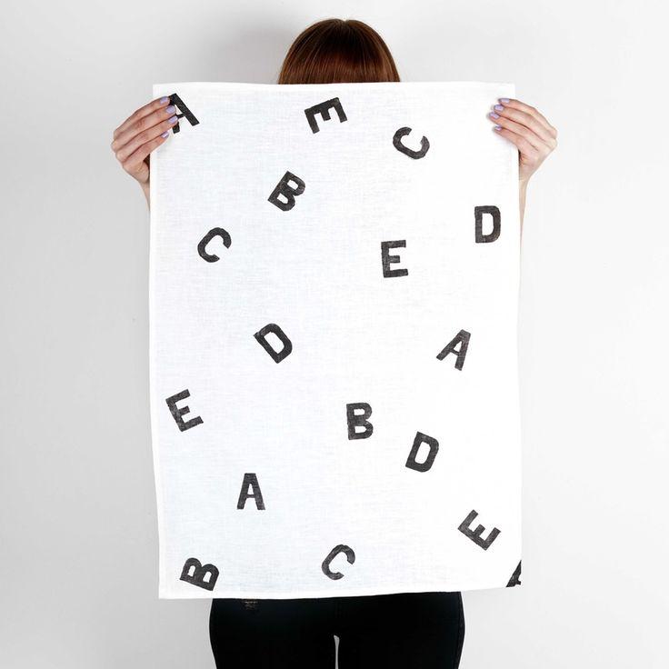 Image of ABC's TEA TOWEL