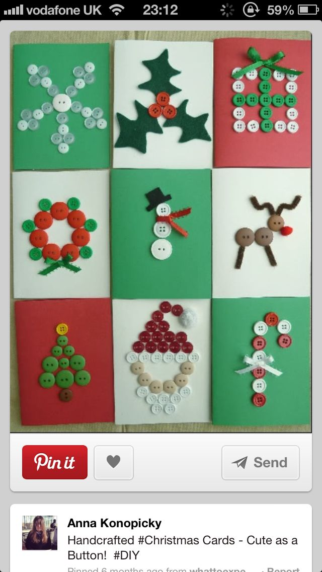 #homemade #Christmas #Cards                                                                                                                                                                                 Más