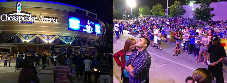 18,203 inside, and about 2,500 outside Chesapeake Energy Arena watching the Thunder vs. Dallas Mavericks during Game 1.