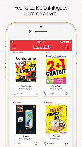 Bonial - Sélection « Presse et Actualité » - Disponible sur iOS et Android.
