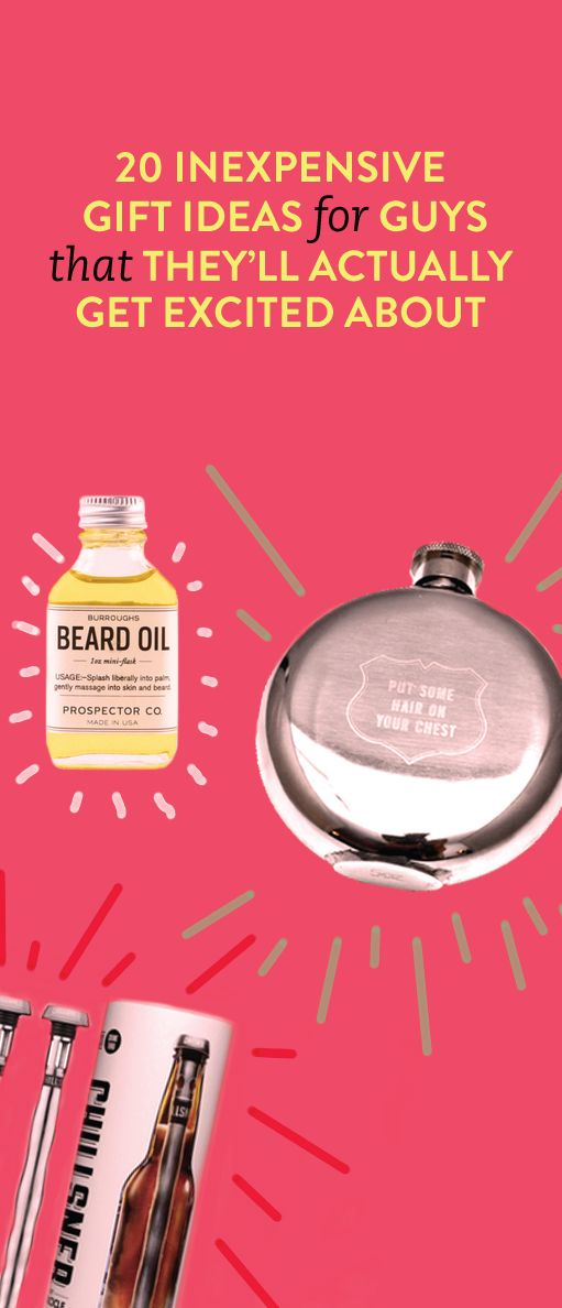 20 inexpensive gift ideas for guys that they'll actually get excited about