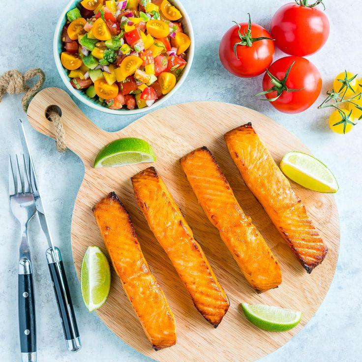 Honey + Lime Salmon with Avocado Salsa is Clean Eating Perfection! - Clean Food Crush