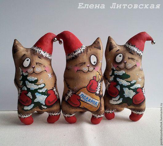 Ароматизированные куклы ручной работы. Заказать Новогодний кофейный кот, стоячий. Елена Литовская. Ярмарка Мастеров. Ароматизированная игрушка, кот
