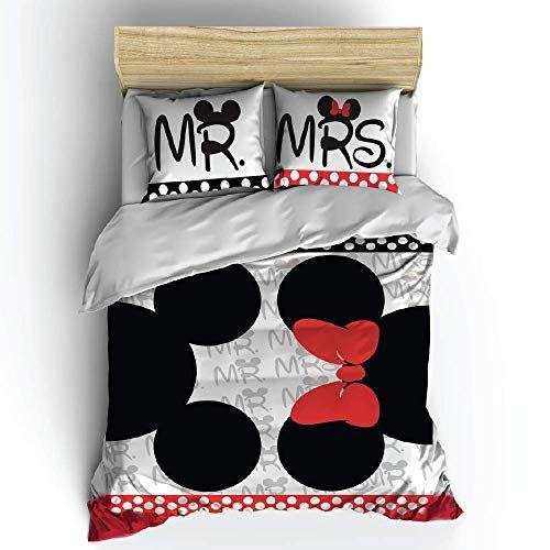 Bettwäsche Mit Motiv Mr Mrs 220 X 240 Cm Disney Comforters