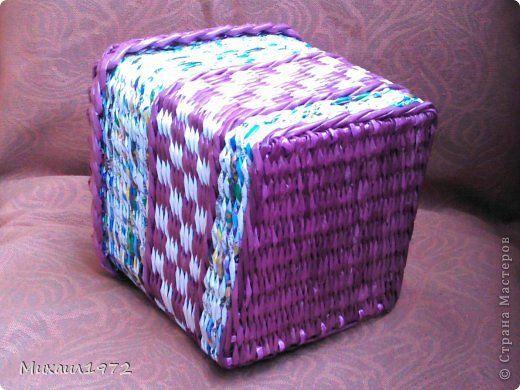 Поделка изделие Плетение Дебют в сливовых тонах Трубочки бумажные фото 12