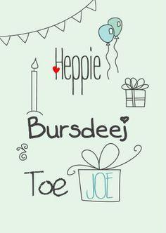 Heppie Bursdeej Toe Joe - Verjaardagskaarten - Kaartje2go
