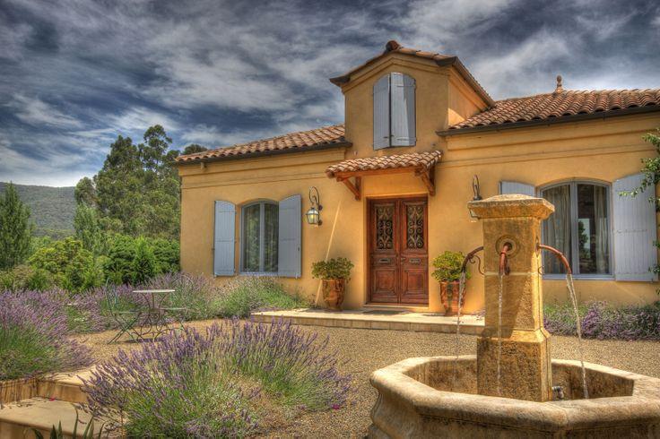 When Provence meets Australia: shutters, windows, Mediterranean tiles.