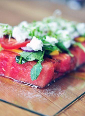 Салат из арбуза и фета