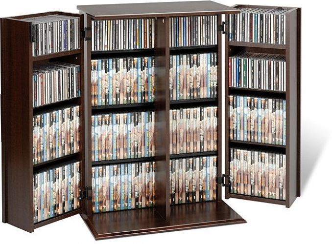 Media Storage Cabinet DVD CD Locking Contemporary Adjustable Shelves Furniture #Doesnotapply #Contemporary #Media #Storage #Shelves #Furniture