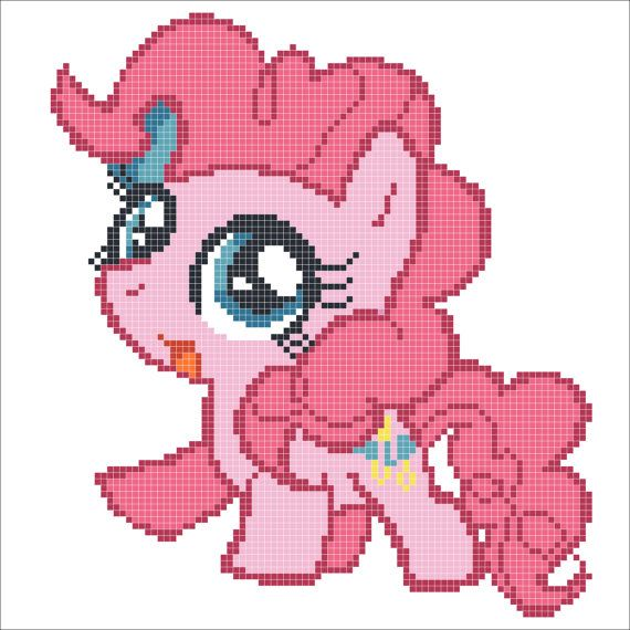 "BOGO FREE! - ""My LITTLE Pony""- Pony ""Pinkie"" Pie cross stitch pdf Pattern - pdf pattern instant download  #64"