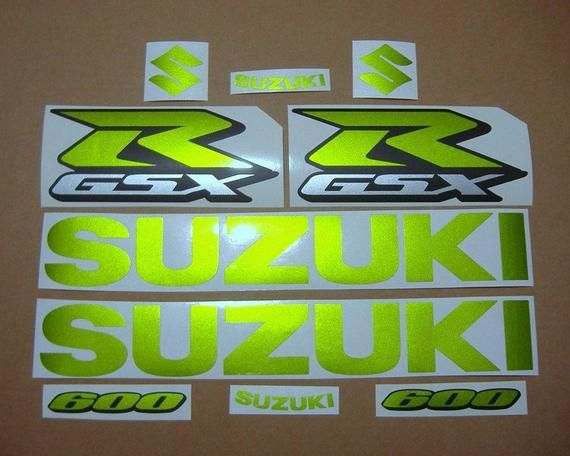 2 Chrome GSXR GSX R Decals Stickers suzuki 600 750 1000