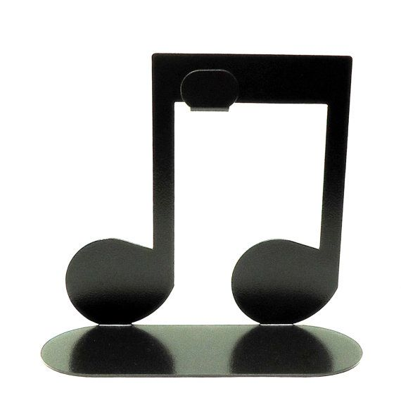 Eighth Note Headphone Stand Metal Art Free by KnobCreekMetalArts