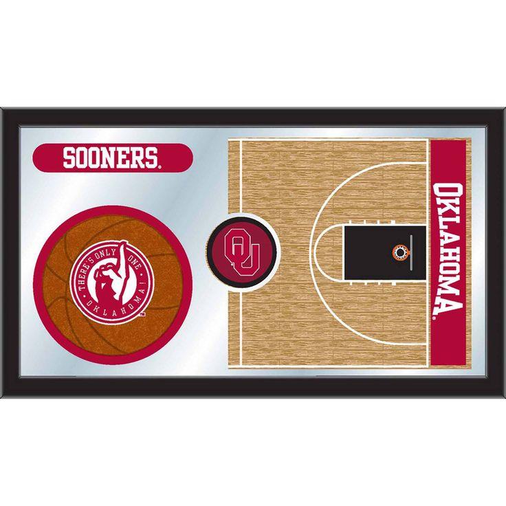 Oklahoma Sooners Basketball Court Mirror Wall Art