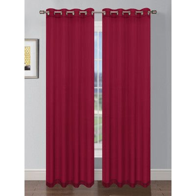 Charlton Home Gallimore Faux Linen Grommet Extra Wide Curtain Panels Color: