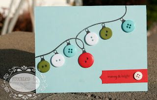 Buttons as Baubles. Love the curly string. Quick and simple to produce