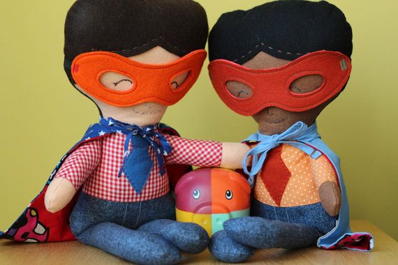 Rag Doll Superhero - handmade - Dolls and Daydreams by euquefiz, €29.75