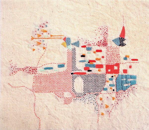 Rita Smirna. Embroidered map of Buenos Aires