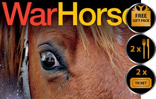 WAR HORSE THEATRE VOUCHER SHOW AND DINNER FOR TWO THEATRE VOUCHER GIFT PACKAGE War Horse the legendary and award winning performance based on the