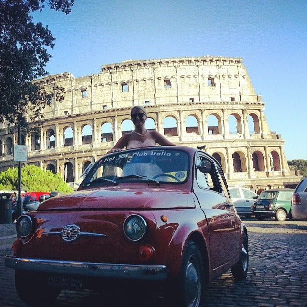 #Happybirthday #Fiat500 #tour of the #Rome sunset | Flickr – Condivisione di foto!
